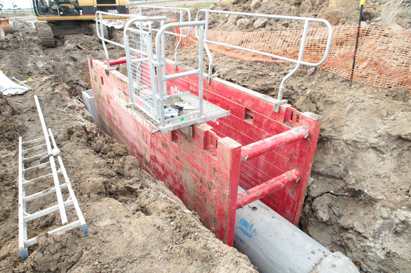 Steel Trench Box : M trench box shore sales
